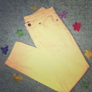 Bright yellow pants